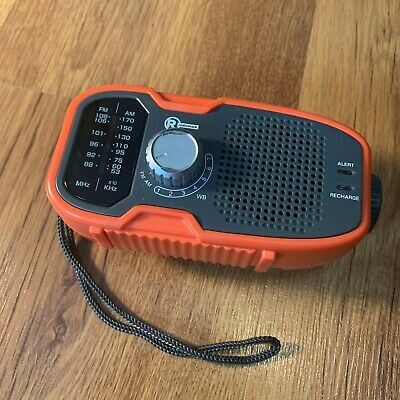 Radio Shack Dynamo AM/FM Weather Band Crank Radio Orange