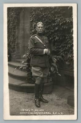 Henry Tureman Allen WWI Army General RPPC Antique Military Real Photo 1910s
