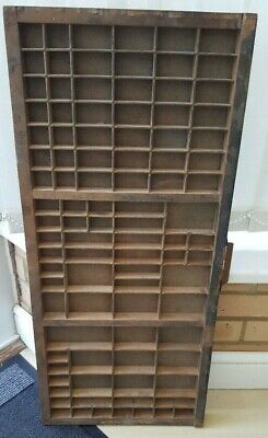 Antique Letterpress Printers Tray in lovely condition. Brass strengtheners.