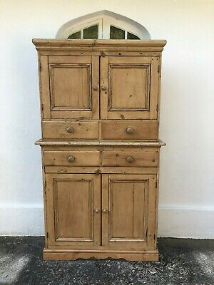Antique Pine Larder Cupboard Dresser with Drawers FREE DEL ENG/WALES *SCOT EXTR