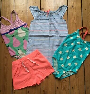 Girls Summer Dress Swim Suit Shorts Bundle Boden Marks And Spencer Age 3-4 Years