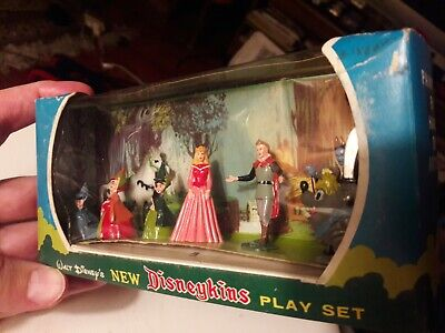 Marx Disney New Disneykins Playset Sleeping Beauty 2nd Series box 1960s rare