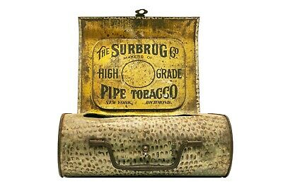 "Scarce 1910s ""Surburg"" litho ""purse"" tobacco tin in very good condition"