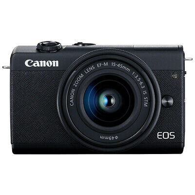 Canon EOS M200 Mirrorless 4K Digital Camera with 15-45mm EF-M IS STM Lens Black