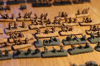 WW2 6mm lead miniatures painted - 300+ elements