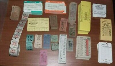 ASSORTMENT OF  PACKS. BUNDLES & PART ROLLS OF BUS AND RAIL TICKETS, ETC (c.1000)