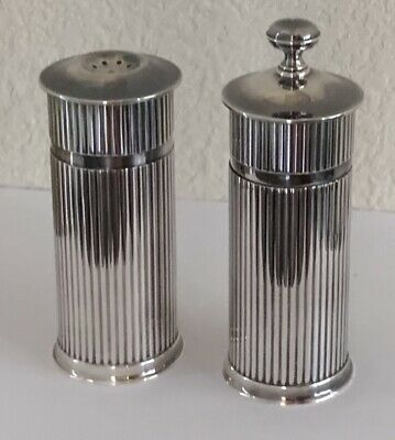 Rare Christofle Silver Two-Piece Set, Salt Shaker and Pepper Mill, France