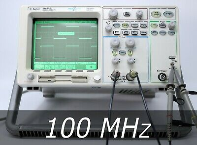 HP / Agilent 54622A 2-channel 100 MHz Oscilloscope + 2 New Probes. Very clean