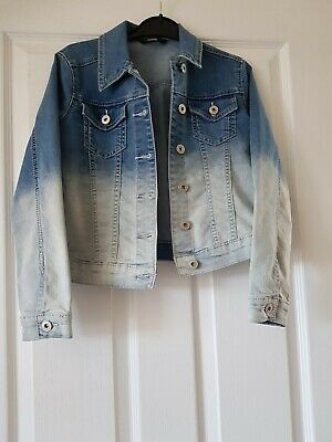 Girls Cute Denim Jacket Ombre Dip Dye 9 10 Years George Asda
