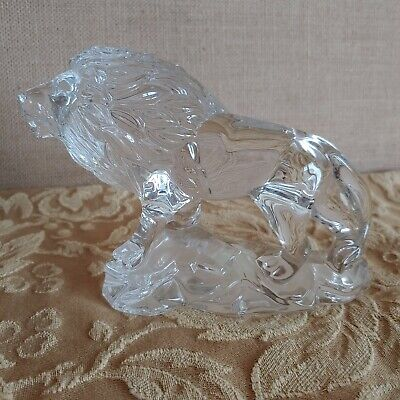 Princess House Wonders of the Wild LION  25% Lead Crystal @ 4.5 x 7""