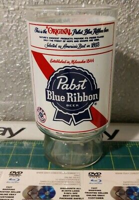 Vintage Pabst Blue Ribbon Glass