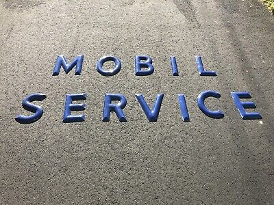Porcelain Mobil Gas/Oil Letter Sign