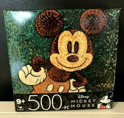 """NEW DISNEY MICKEY MOUSE Jigsaw Puzzle 500 pieceS SEALED 14"""" x 11""""  9+ SHIPS FREE"""