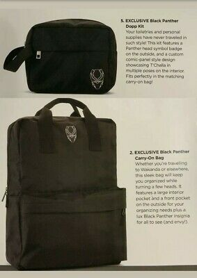 Marvel Black Panther Carry On Bag & Dopp Kit Set Loot Crate Exclusive *NEW