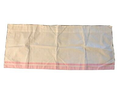 Pottery Barn Kids Curtain Valance And Changing Table Cover Pink/white