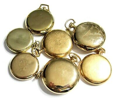 255 Bulk Lot - Gold Filled + Pocket Watch Cases - 12S-18S - Use Or Scrap (A8)