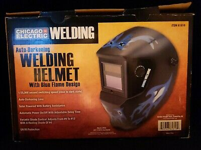 Adjustable Shade Auto-Darkening Welding Helmet Face Shield Solar Lightweight