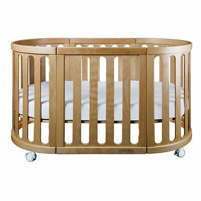 NEW Cocoon Nest Cot With Organic Bassinet & Cot Mattress - Natural