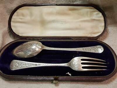 Georgian solid Silver Christening Set William Esterbrook  London 1825