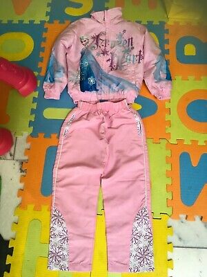 Disney Frozen Girl Queen Elsa Pink Tracksuit Jogger Jumper Outfit 6 year present