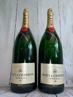 TWO 9 LITER !! MOET & CHANDON CHAMPAGNE 9000ML  Dummy Empty Display Bottle GLASS