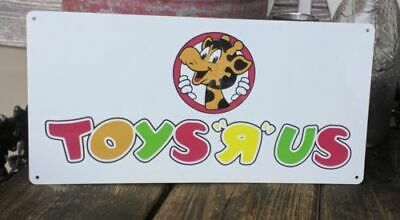 Toys r us where a kid can be a kid Metal Sign 6x12 inches NEW 50156
