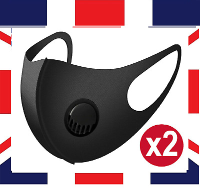 FACE MASK FILTER VALVE washable reuseable White Breathable Mask Respirator