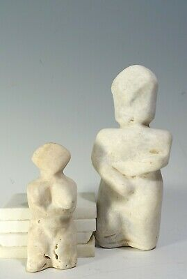 REPRO Ancient Neolithic Iberian Stone Marble Female Fertility Goddess Idol LOT