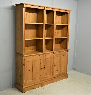 Large Solid Wood Pine Bookcase Sideboard Dresser Shelving Delivery Available