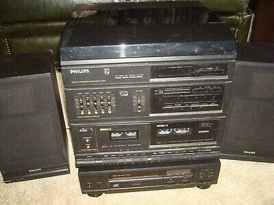 Philips Music Centre + Cd Player With Instruction Books