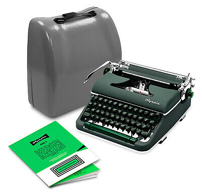 Olympia Typewriter SM4 Green 1960 Manual (Professionally Restored) - SM3 De Luxe