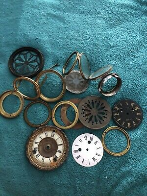 Vintage Clock Parts - Antique French Clock's Parts - Old Mantle Clock Face