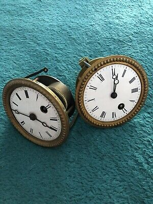 2 x Vintage Clock Mechanism - Antique French Movement - Old Clock's Parts