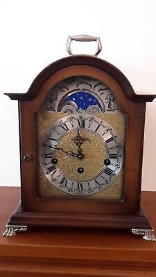 Hermle Walnut Westminster Chime Moonphase Mantle Clock