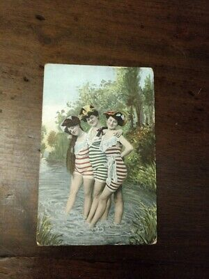 Vintage Antique Early 1900's GIRLS IN BATHING Suits