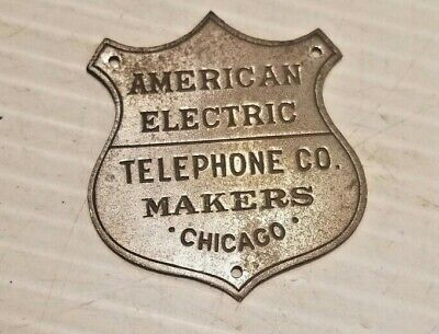 American Electric Telephone Co Makers Name Plate