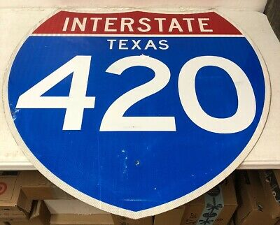 Authentic Retired Texas Repurposed Interstate 420 Highway Sign-36""