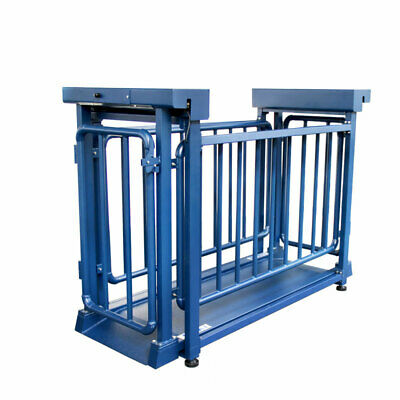 """Pig Scale for Livestock 1,000 lb Capacity 71""""x20"""" Platform with Cage"""