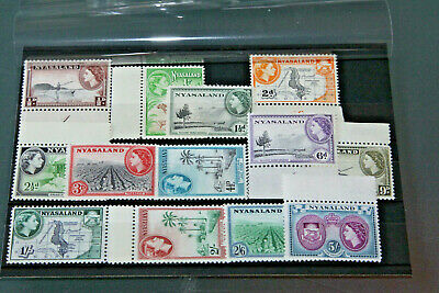 Nyasaland- 1953 Long Issues All Values To 5 Shillings - Unmounted Mint
