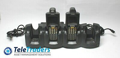 Lot Of 2 Symbol Mc3090-Ru0Pbbg00Wr Barcode Scanner W/ Chs3000-4000C Cradle