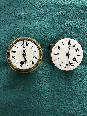 Pair Of Vintage Clock 🕰 Mechanism - Antique French Movements - Old Clock Parts