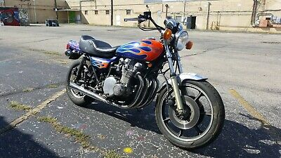 1978 Kawasaki KZ1000 B  1978 Kawasaki LTD 1000 KZ1000 B Blue Flame Hot Rod Machine
