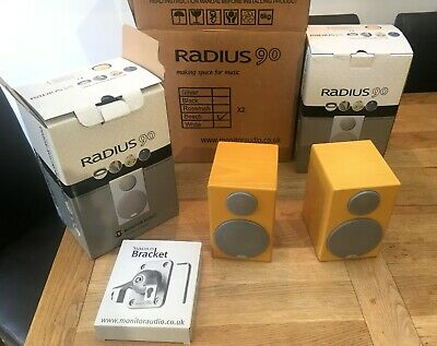 Monitor Audio Radius 90 R90 BeechCinema speakers (pair). Boxed with brackets