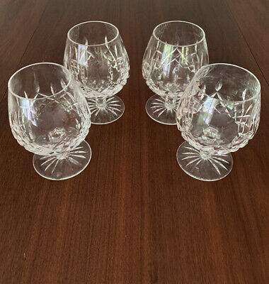 Lot of FOUR (4) Waterford Crystal, Lismore Pattern Brandy Snifters