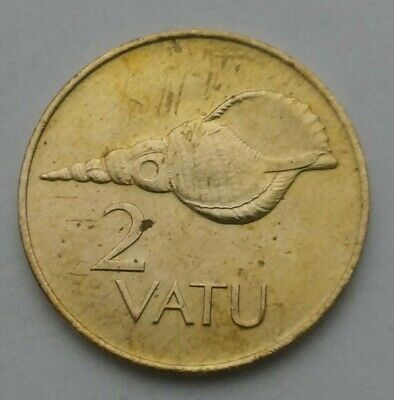 Vanuatu 2 Vatu 1983. KM#4. Two Cents Pennies coin. 🐚 Shell.