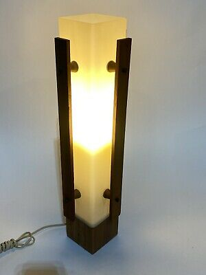 Vintage Mid Century Danish Modern Teak Table/Desk Cylinder Lamp  Retro 1960's