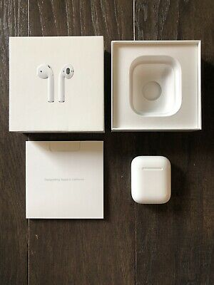 Authentic - Apple AirPods Charging Case + Box ONLY - A1602 (Works 1st & 2nd Gen)