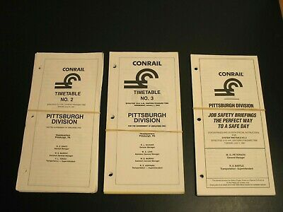 Conrail Railroad Employee Timetable Lot Pittsburgh Division 1990 1992 1997