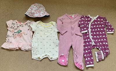 0-3 Months Girls Summer Bundle - Ted Baker, Gap, Organics for Kids, LWC