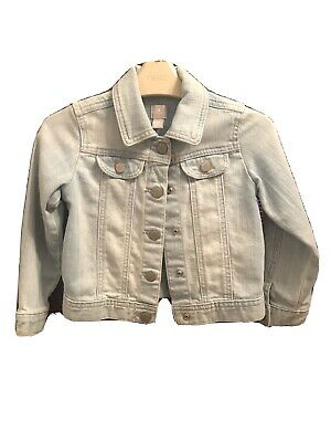 Baby Gap Girls Denim Jacket Age 4 Distressed